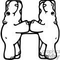 Letter H Hippo or Hippopotamus