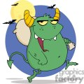 3134-Happy-Monster-Runs-With-Bag