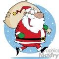 big happy Santa Claus delivering gifts