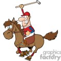 3376-Cartoon-Polo-Player