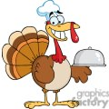 3507-Happy-Turkey-Chef-Serving-A-Platter