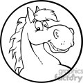 black and white horse head gif, png, jpg, eps, svg, pdf