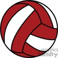 red volleyball
