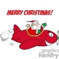 3713-Santa-Flying-With-Christmas-Plane