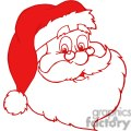 red santa claus outline