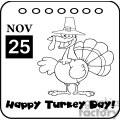 Thanksgiving-Holiday-Calendar vector clip art image