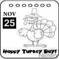 Thanksgiving-Holiday-Calendar vector clip art image