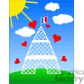 eiffel tower cartoon gif, png, jpg, eps, svg, pdf