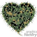 digital camo heart gif, png, jpg, eps, svg, pdf