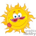 4036-Happy-Sun-Mascot-Cartoon-Character-With-Shades