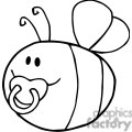 4119-Fflying-Baby-Bee-Cartoon-Character