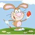 bunny holding an egg