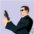 cartoon secret agent