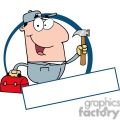4319-Construction-Worker-With-Hammer-And-Tool-Box-Banner