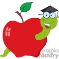 4267-Happy-Graduate-Worm-In-Apple