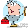 4316-construction-worker-with-hammer-and-tool-box  gif, png, jpg, eps, svg, pdf