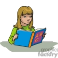Cartoon student learning her ABC's