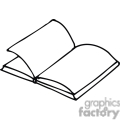 Black and white outline of a book