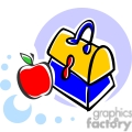 School lunch box and apple