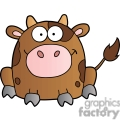 cute cartoon brown cow gif, png, jpg, eps, svg, pdf