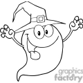 black and white cute ghost gif, png, jpg, eps, svg, pdf