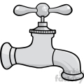 12876 RF Clipart Illustration Water Faucet