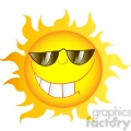 12899 rf clipart illustration smiling sun cartoon character with sunglasses  gif, png, jpg, eps, svg, pdf