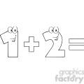 5042-clipart-illustration-of-number-1-plus-number-2