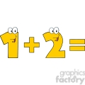 5043-clipart-illustration-of-number-1-plus-number-2