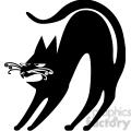 vector clip art illustration of black cat 087  gif, png, jpg, eps, svg, pdf