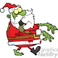 5086-Santa-Zombie-Walking-With-Hands-In-Front-Royalty-Free-RF-Clipart-Image