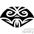 tribal masks vinyl ready art 025  gif, png, jpg, eps, svg, pdf