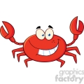 funny crab cartoon mascot character gif, png, jpg, eps, svg, pdf