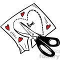 scissors cutting a heart out of paper