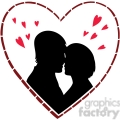 couple with hearts surrounding them gif, png, jpg, eps, svg, pdf