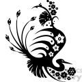 chinese swirl floral design 018  gif, png, jpg, eps, svg, pdf