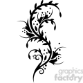Chinese swirl floral design 083