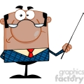clipart of angry african american business manager with pointer