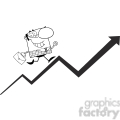 clipart of smiling business manager running upwards on a statistics arrow  gif, png, jpg, eps, svg, pdf