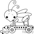 Pull Toy Grasshopper