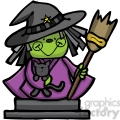 witch with cat in color  gif, png, jpg, svg, pdf