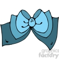 blue Bow 02 clipart
