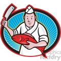 japanese sushi chef fish knife oval  gif, png, jpg, eps, svg, pdf