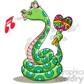 snake playing the maracas