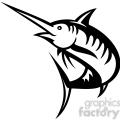 black and white swordfish outline