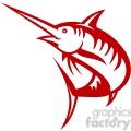 red swordfish outline