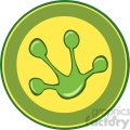 5647 Royalty Free Clip Art Frog Paw Print Banner
