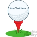 5697 Royalty Free Clip Art Golf Ball Tee Sign