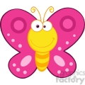 5614 royalty free clip art smiling butterfly cartoon mascot character  gif, png, jpg, eps, svg, pdf