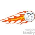 5710 royalty free clip art angry flaming golf ball cartoon mascot character  gif, png, jpg, eps, svg, pdf